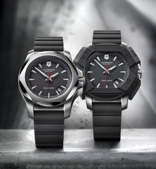 Victorinox I.N.O.X. Black Watch with Bumper