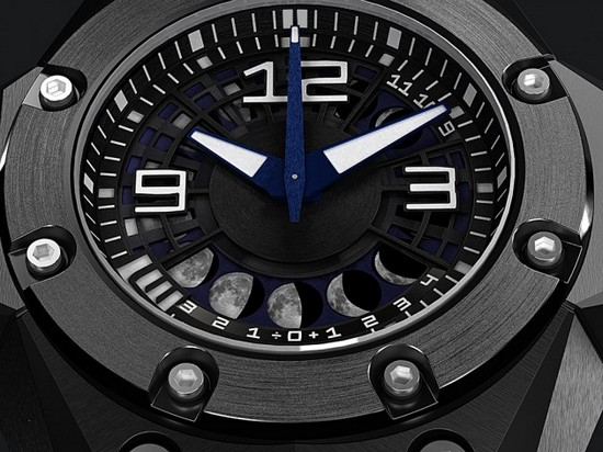 Linde Werdelin Oktopus II Moon Watch Dial