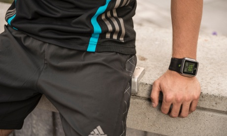 Adidas miCoach Smart Run Fitness Watch On Men Hand