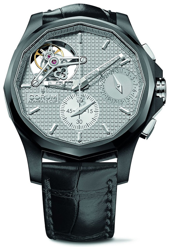 Corum Admiral's Cup Seafinder 47 Tourbillon Chronograph Ceramicized Aluminum Watch