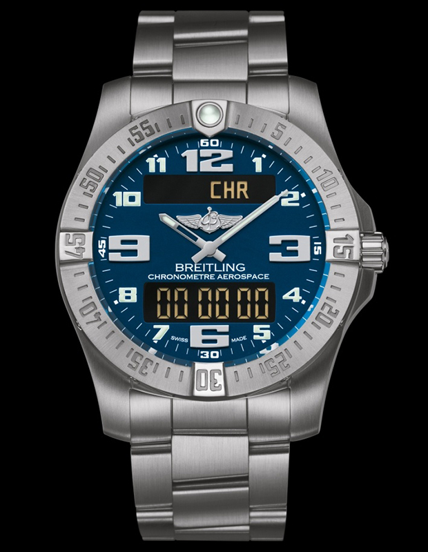 Breitling Professional Aerospace Evo Blue Dial Watch