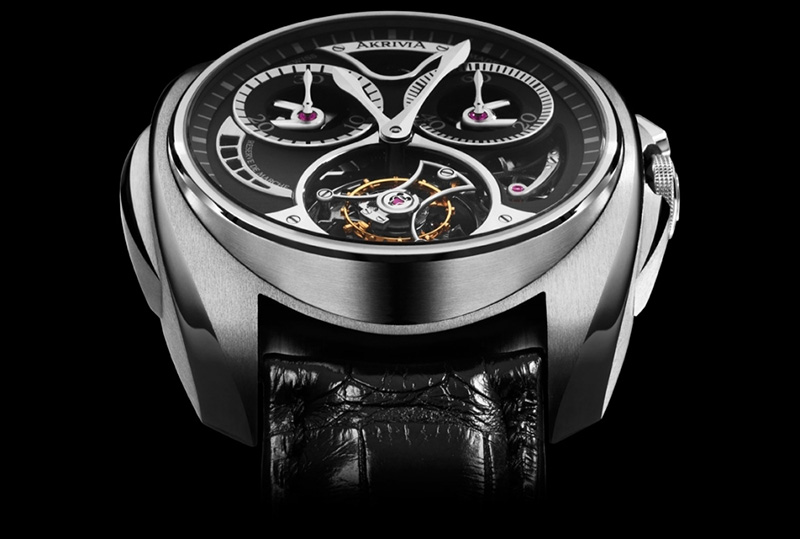 AkriviA Saturn Tourbillon Monopusher Chronograph Steel Watch Case