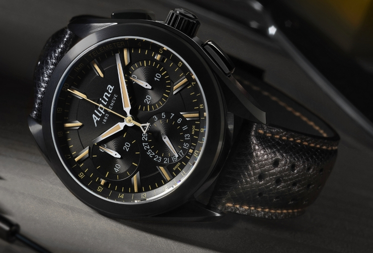 Alpina Full Black Alpiner 4 Manufacture Flyback Chronograph Watch