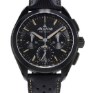 Alpina Full Black Alpiner 4 Manufacture Flyback Chronograph Watch Front
