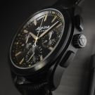 Alpina Full Black Alpiner 4 Manufacture Flyback Chronograph Watch Profile