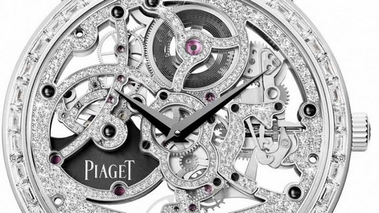 Piaget Altiplano Automatic Gem-Set Skeleton Watch Detail