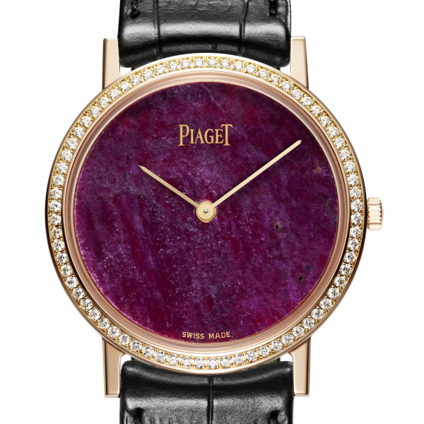 Piaget Altiplano Hard Stone Heart of Ruby Dial Watch