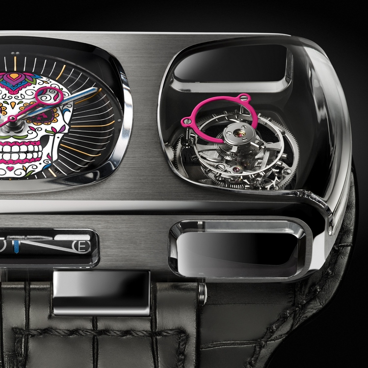 Angelus U10 Tourbillon Calavera Watch Detail