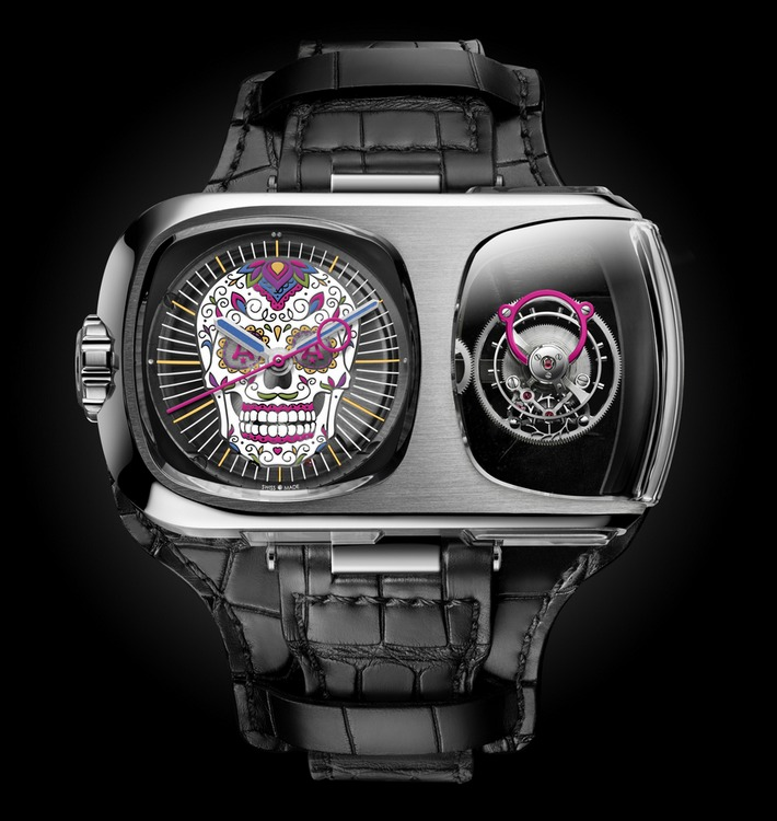 Angelus U10 Tourbillon Calavera Watch Front