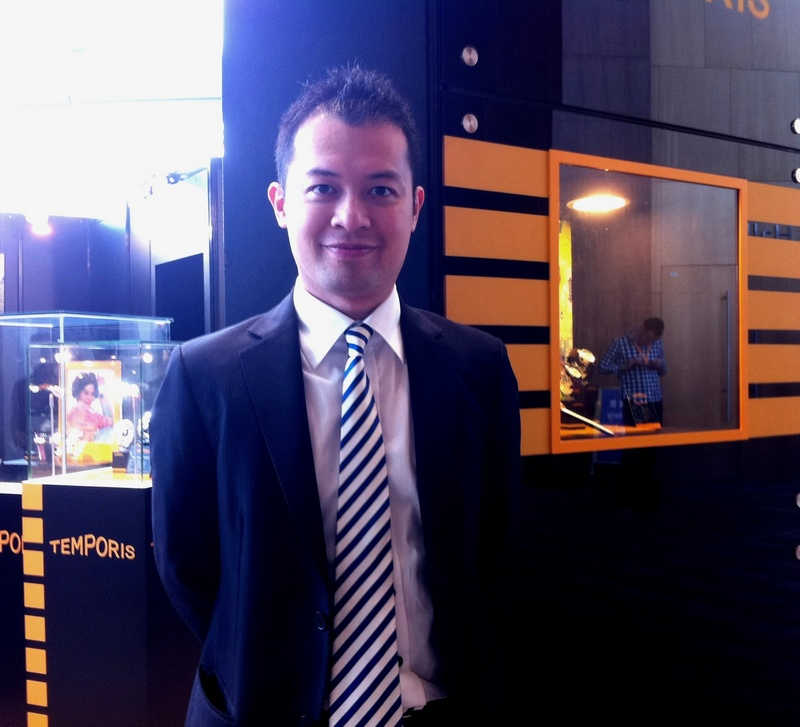 Gary Lau, Brand Manager of Free Town Watch Products Ltd, one of the fair's exhibitor