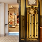 Faubourgsaint Honore Elevator Wrought Iron Decoration