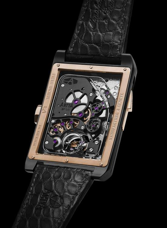 Artya Complications Minute Repeater With 3 Gongs, Regulator & Double Axis Tourbillon Watch Back