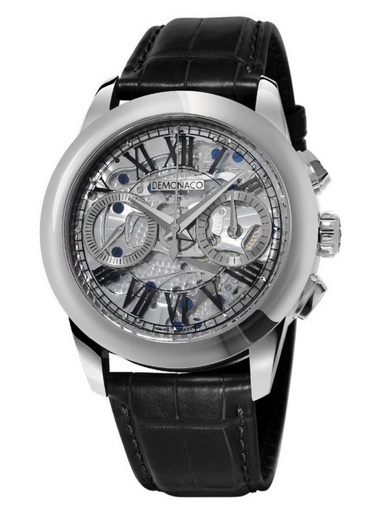 Ateliers deMonaco Admiral Chronographe Flyback Saphir Watch White Gold