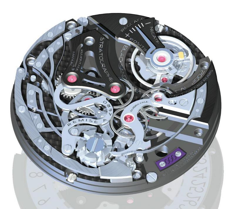 Blacksand Stratographe Hand-Wound Chronograph Watch Movement