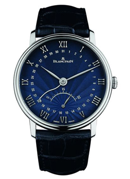 Blancpain Villeret Collection Villeret With Flinque Lacquered Dial Watch Front