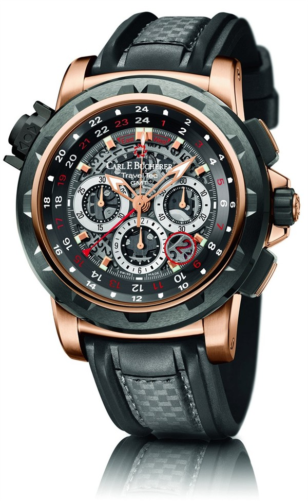 Carl F. Bucherer Patravi Traveltec Fourx Watch - 00.10620.22.93.01
