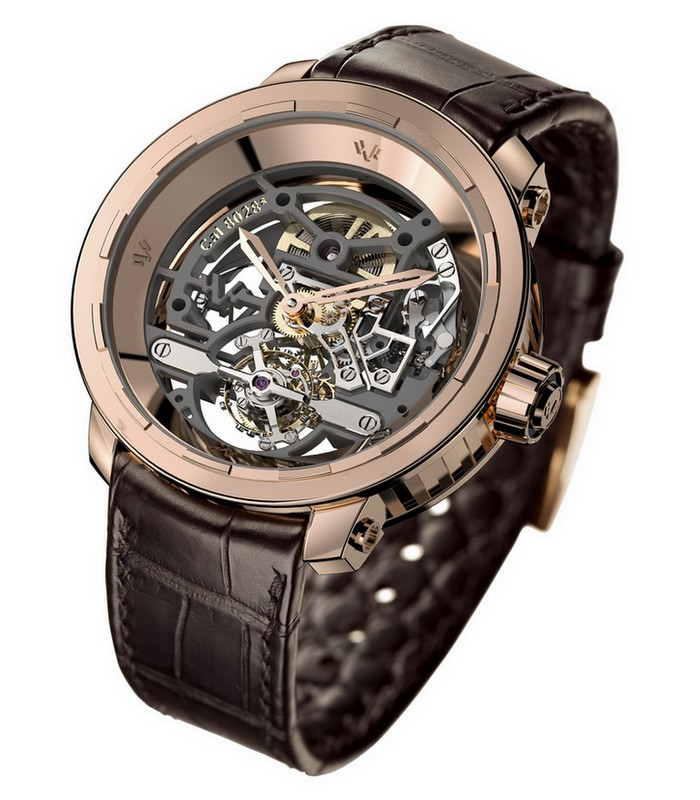 DeWitt Twenty-8-Eight Skeleton Rose Gold Watch