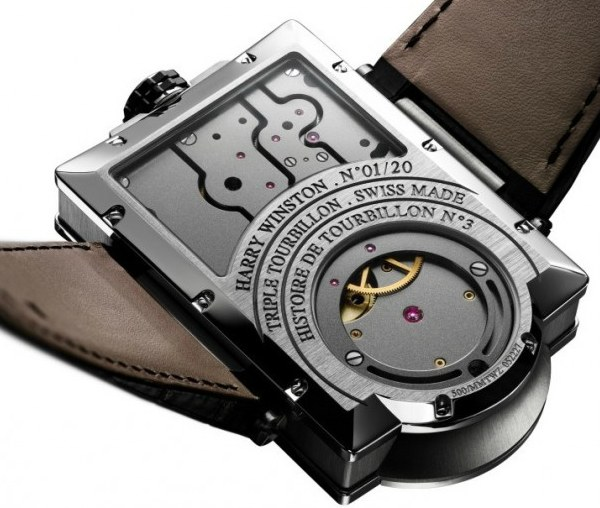 Harry Winston Histoire de Tourbillon 3 Watch Caseback