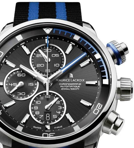 Maurice Lacroix Pontos S Diving Chronograph Watch Blue