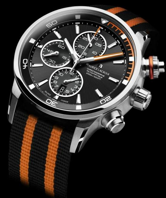 Maurice Lacroix Pontos S Diving Chronograph Watch Orange
