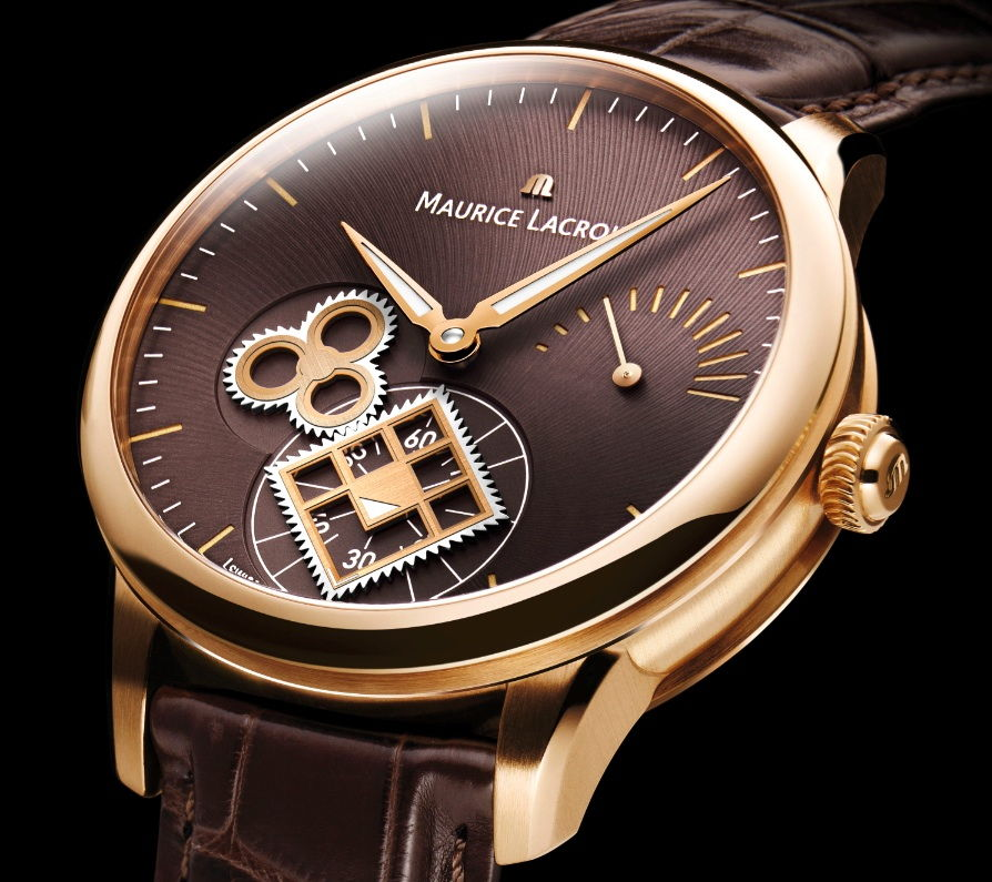 Maurice Lacroix Masterpiece Roue Carrée Seconde Or Rose Watch