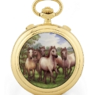 Robert & Fils 1630 Maurice Robert Grande Complication Chevaux Sauvages Pocket Watch