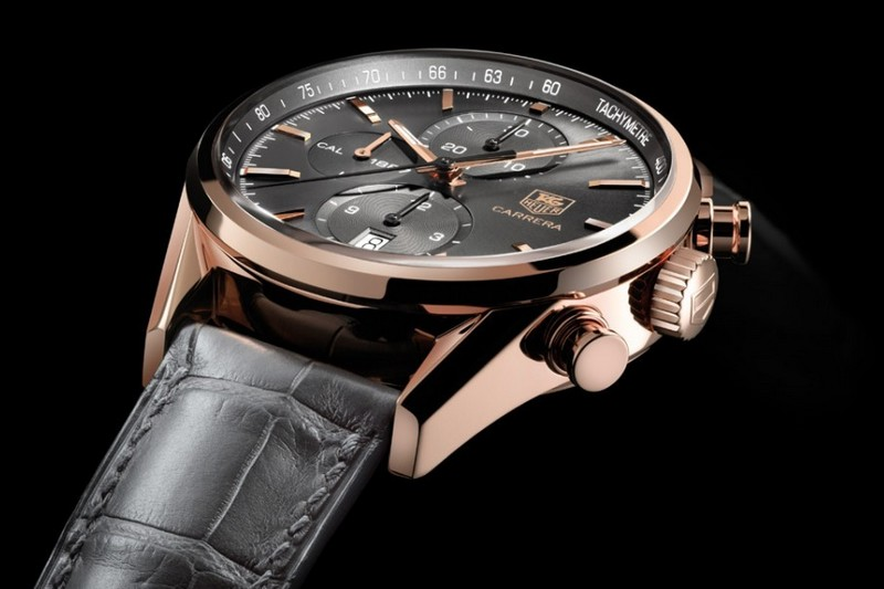Tag Heuer Carrera Calibre 1887 Chronograph Rose Gold Watch Ref.CAR2141.FC8182