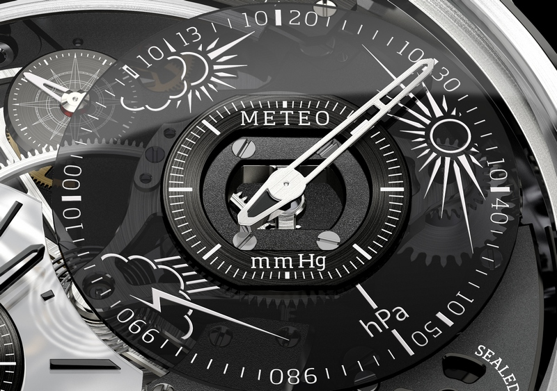 Breva Génie 01 White Gold Watch Meteo