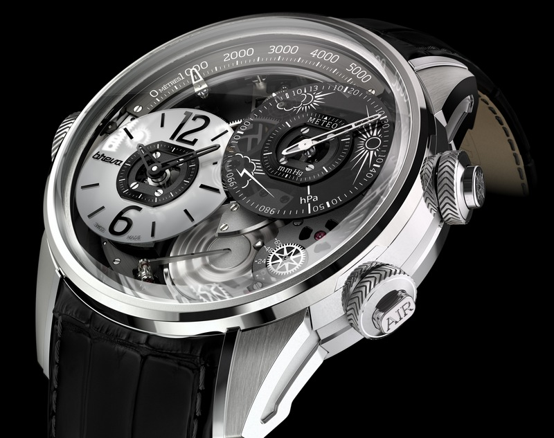 Breva Génie 01 White Gold Watch Side