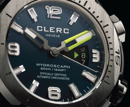 Clerc Hydroscaphe H1 Chronometer Diving Watch Dial
