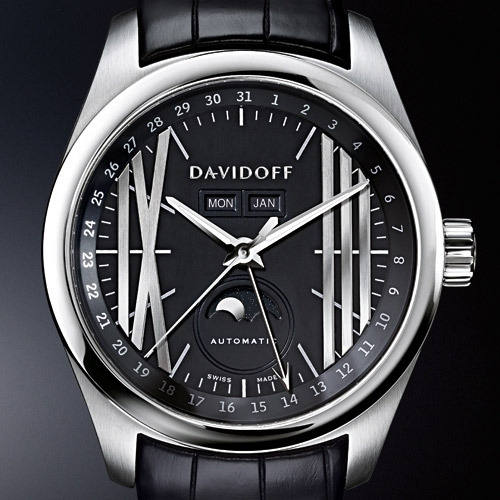 Davidoff Velocity Gent Automatic Moonphase Watch Dial
