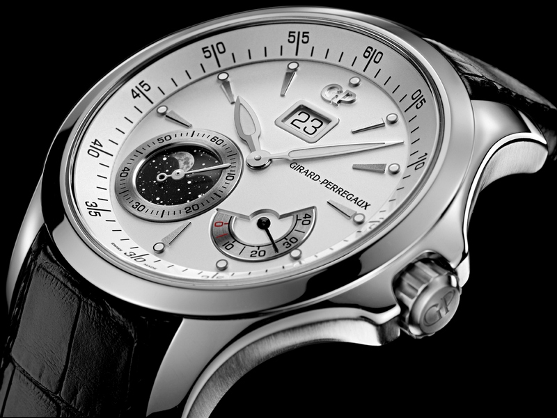 Girard-Perregaux Traveller Moon Phases Watch Side