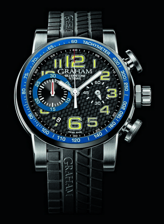 Graham Silverstone Stowe 44 Chronograph Watch Blue