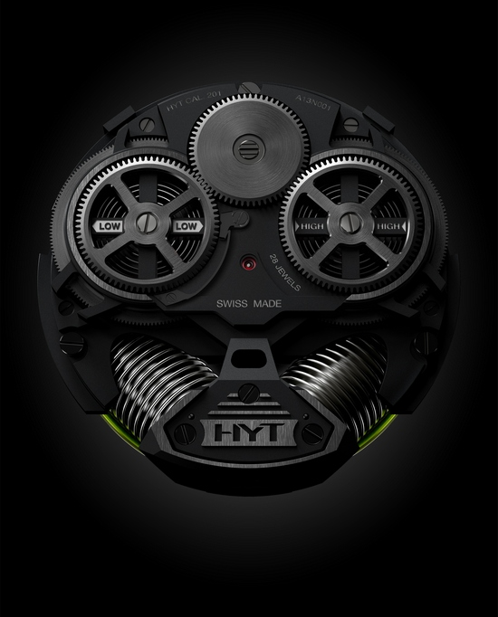 HYT H2 Hydromechnical Watch Back