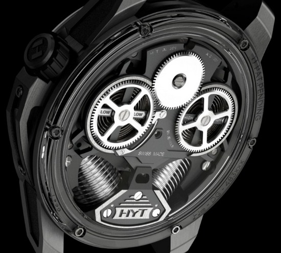 HYT H2 Hydromechnical Watch Caseback