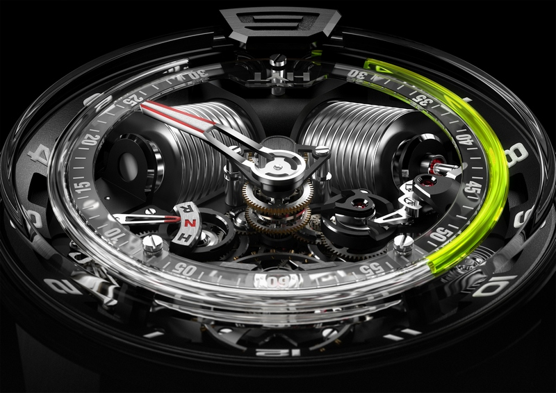 HYT H2 Hydromechnical Watch Inside