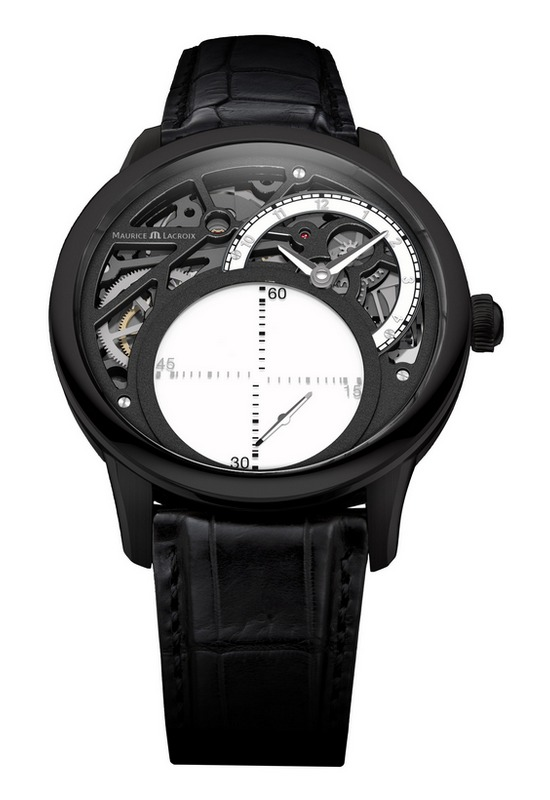 Maurice Lacroix Masterpiece Mystrious Seconds Watch - Black PVD-Coating