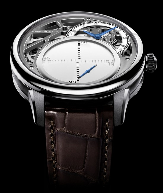 Maurice Lacroix Masterpiece Mystrious Seconds Watch Silver
