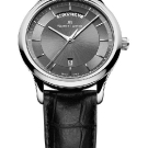 Maurice Lacroix Les Classiques Day/Date Watch with Black Leather Strap