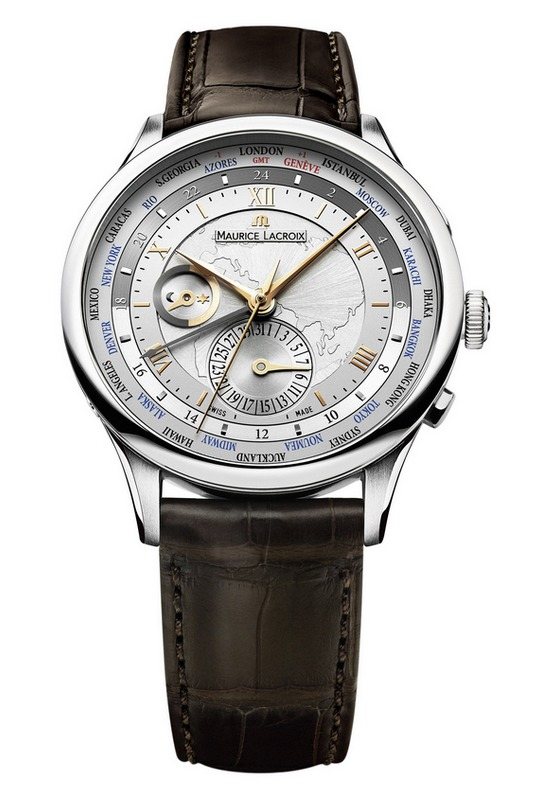 Maurice Lacroix Masterpiece Worldtimer Asia Watch Leather