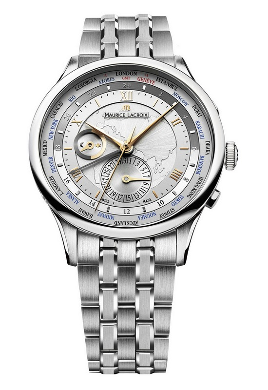 Maurice Lacroix Masterpiece Worldtimer Asia Watch Steel