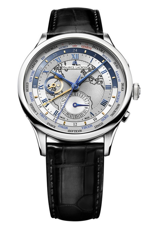 Maurice Lacroix Masterpiece Worldtimer Europe Watch Leather