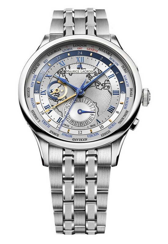 Maurice Lacroix Masterpiece Worldtimer Europe Watch Steel