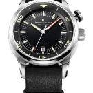 Maurice Lacroix Pontos S Diver Vintage Watch Black Dail Black Leather