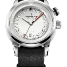 Maurice Lacroix Pontos S Diver Vintage Watch White Dial Black Leather