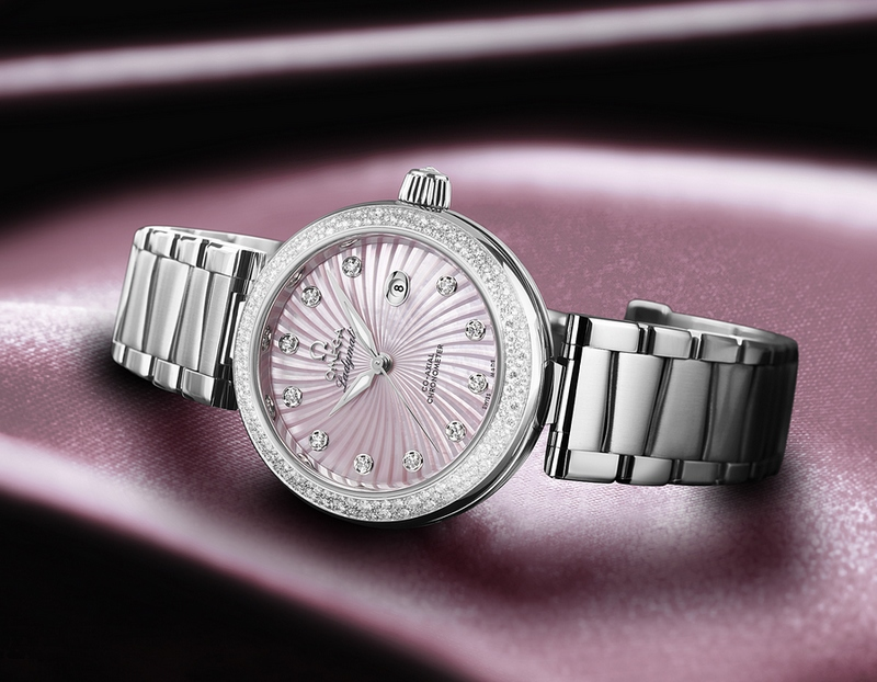Omega De Ville Ladymatic Pink Diamonds Watch Baselworld 2013