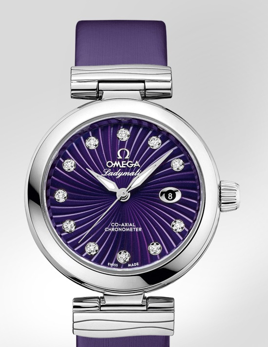 Omega De Ville Ladymatic Purple Watch Baselworld 2013