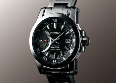 Seiko Premier Kinetic Direct Drive Watch SRG009