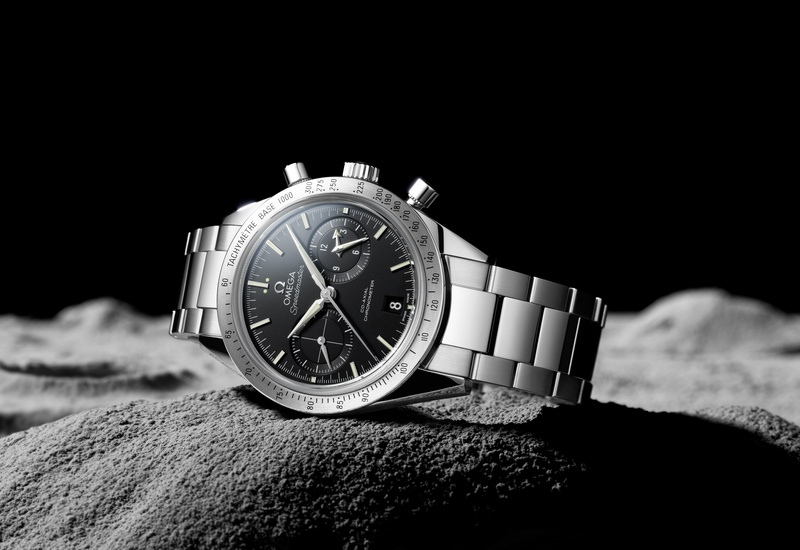 Omega Speedmaster 57 Co-Axial Chronograph Watch Black Dial