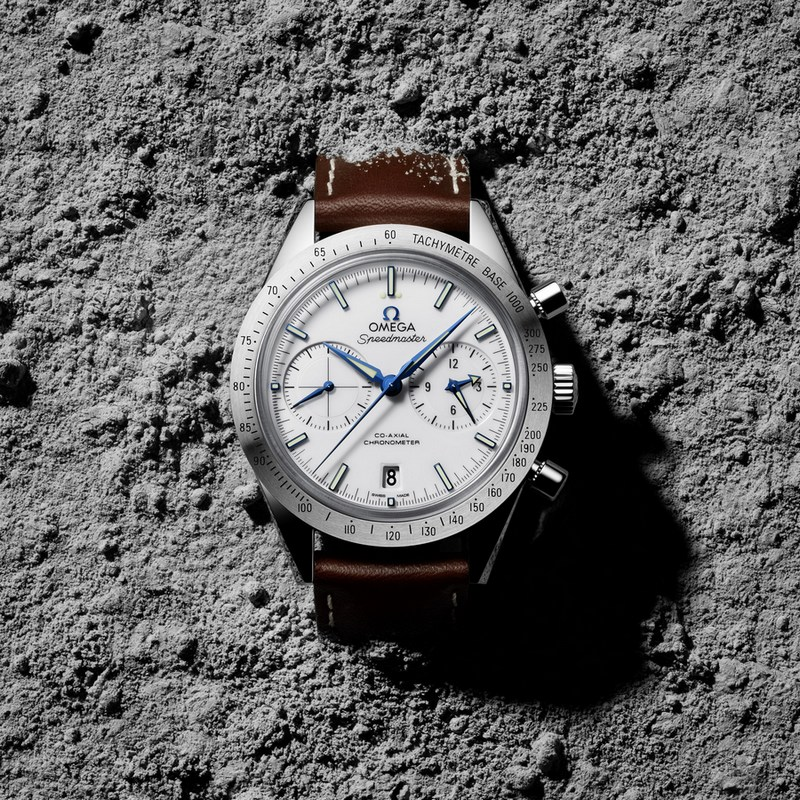 Omega Speedmaster 57 Co-Axial Chronograph Watch White Dial